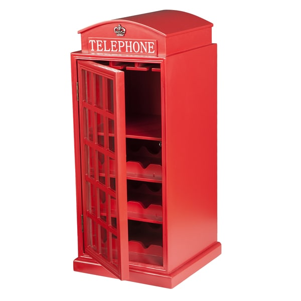 Harper Blvd Nigel Phone Booth Wine Cabinet   Free Shipping Today    Overstock.com   18885778