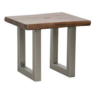 Brown/Grey Wood End Table