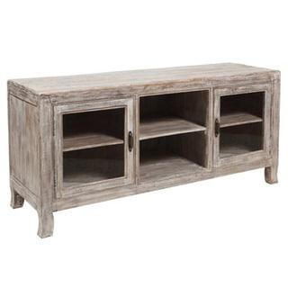 Benzara Urban Port Sturdy White Wood Open Storage Shelf