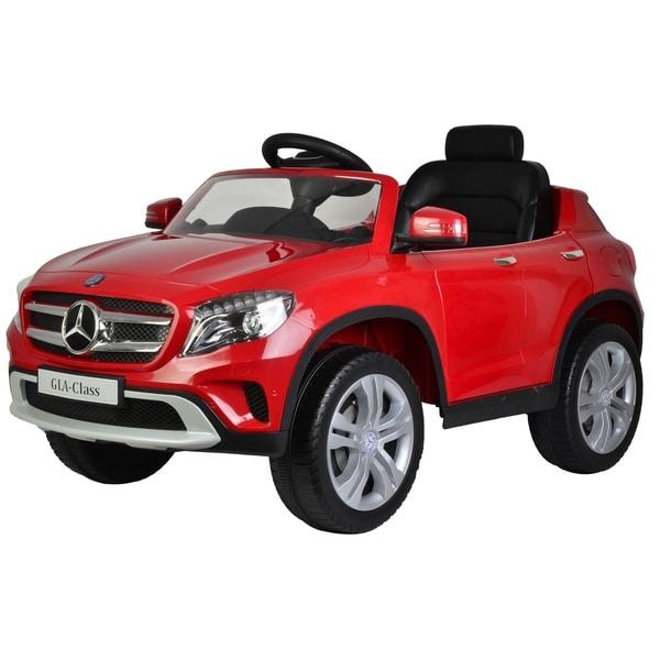 Children's Red Mercedes GLA 12V Ride-on Car