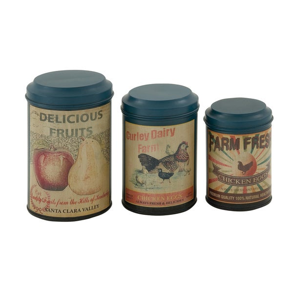 decor containers coles shop metal canisters set of 3 on free shipping 10196