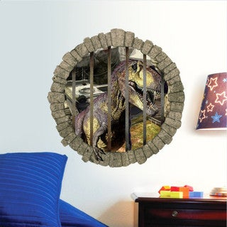 HomeSource Caged Saurus Removable Wall Decal