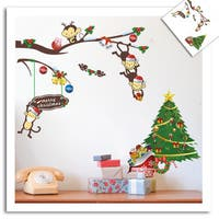 Home Source 'A Friendly Forest Christmas' 10-inch x 28-inch Removable Wall Graphic