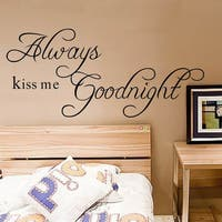 HomeSource 'Kiss Goodnight' 10-inch x 28-inch Removable Wall Graphic
