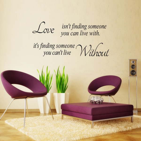 Home Source Finding Love 10-inch x 28-inch Removable Wall Graphic