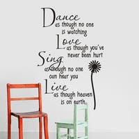 Home Source 'Sing and Dance' 10-inch x 28-inch Removable Wall Graphic