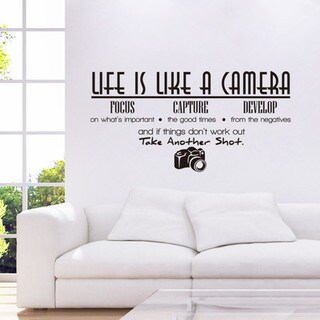 HomeSource Camera Life 10-inch x 28-inch Removable Wall Graphic