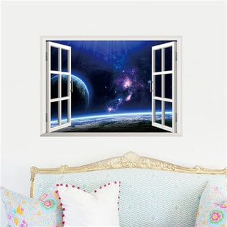 Home Source Window to Space 19-inch x 27-inch Removable Wall Graphic Decal