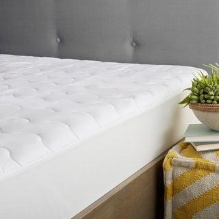 Hotel Easy Care Microfiber Mattress Pad - White