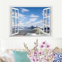Home Source 'Window to a Winter Wonderland' 19-inch x 27-inch Removable Wall Graphic