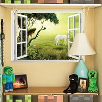 HomeSource Window to a Wonderful Grazer 19-inch x 27-inch Removable Wall Graphic