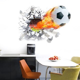 Home Source 'Scorched Soccer Score' 28-inch x 20-inch Wall Decal