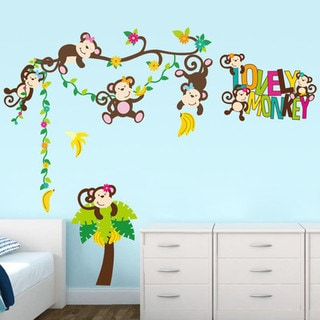 HomeSource Lovely Monkey Wall Decal