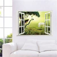 Home Source Window to the Grazer 20-inch x 28-inch Removable Wall Graphic