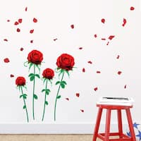 Home Source 'Roses and Petals' 20-inch x 28-inch Removable Wall Graphic