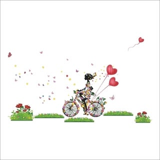 Home Source 'Bicycle Free' 20-inch x 28-inch Removable Wall Graphic