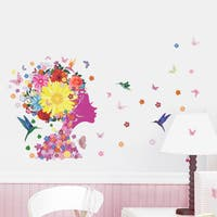Home Source 'Free Mind of Color and Life' 20-inch x 28-inch Removable Wall Graphic