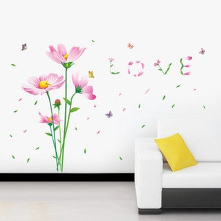 HomeSource 'Flowers of Love' 20-inch x 28-inch Removable Wall Graphic