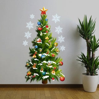 HomeSource Wall Christmas Tree 20-inch x 28-inch Removable Wall Graphic