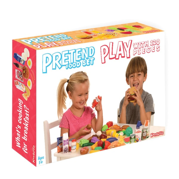 Kangaroo Deluxe Pretend Play 120-piece Food Set