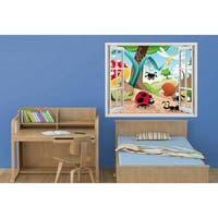 Window to the Ladybug World' Multicolored Vinyl 20-inch x 28-inch Removable Wall Graphic