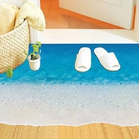 Home Source Beach Border 20-inch x 28-inch Removable Wall Graphic