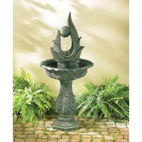 Green Modern Sculpture Water Fountain