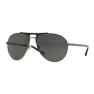 Versace Men's VE2164 100187 Gunmetal Metal Pilot Sunglasses
