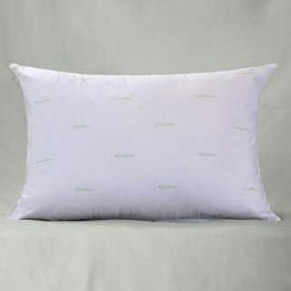 EcoPure Garnetted Pillow filled with Recycled Fiber - White