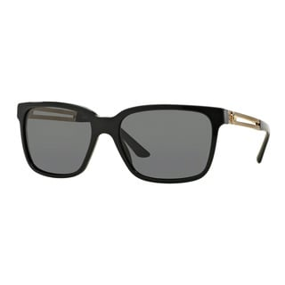 Versace Men's VE4307 GB1/87 Black Plastic Square Sunglasses
