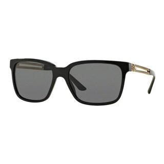 Versace Men's VE4307 GB1/87 Black Plastic Square Sunglasses