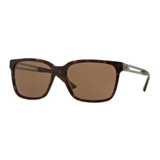 Versace Men's VE4307A 108/73 Brown Plastic Square Sunglasses