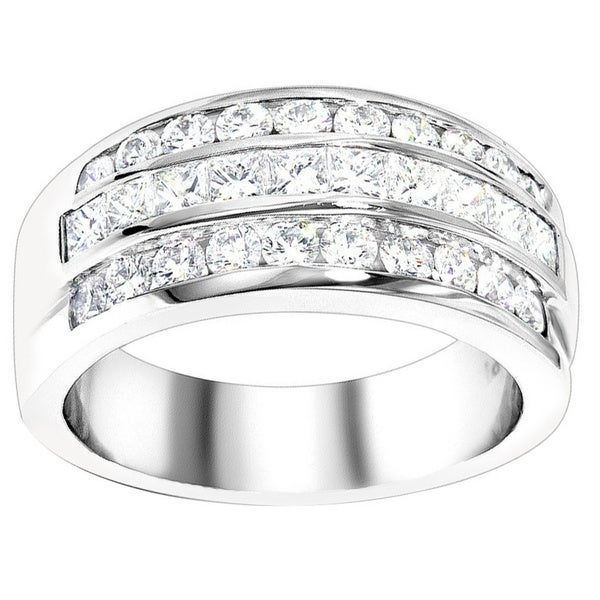 Luxurman Platinum 1 7/8ct TDW Diamond Ring