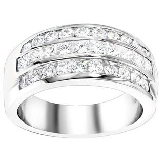 Luxurman Platinum 1 7/8ct TDW Diamond Ring