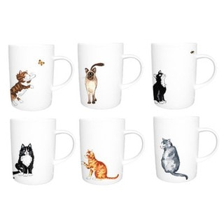 Roy Kirkham Lyric Mug - Cats Set of 6