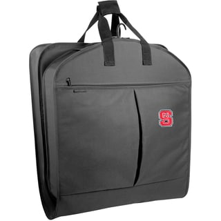 WallyBags NC State Wolfpack 40-inch Black Garment Bag with Pockets