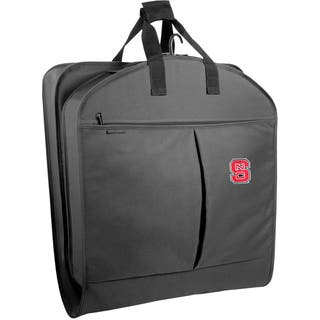 WallyBags NC State Wolfpack 40-inch Black Garment Bag with Pockets|https://ak1.ostkcdn.com/images/products/12009746/P18886333.jpg?impolicy=medium