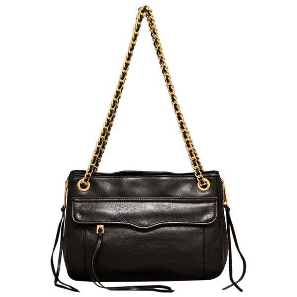 Rebecca Minkoff Swing Black Shoulder Bag Free