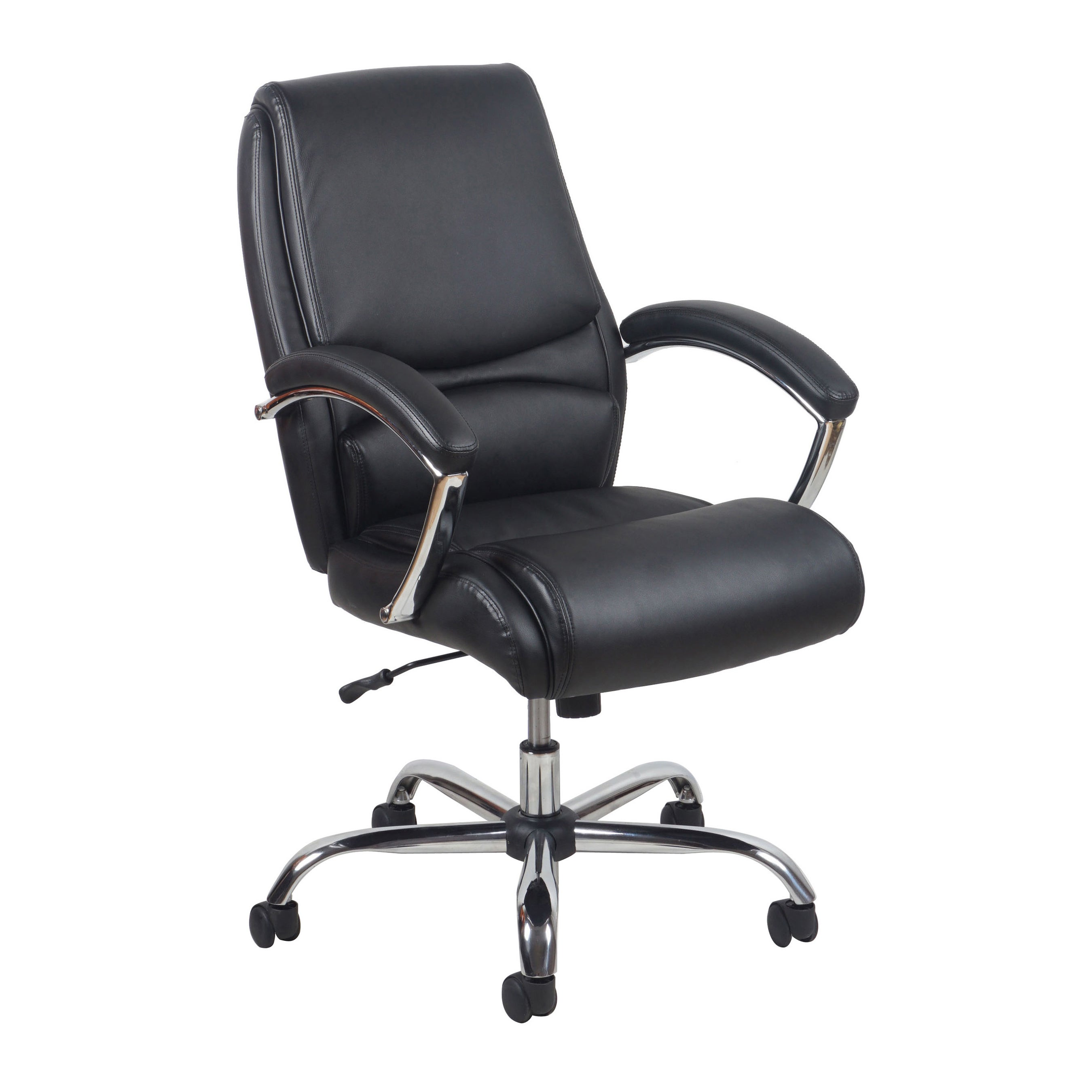 Enjoyable Essentials By Ofm Ergonomic High Back Leather Executive Office Chair With Arms Machost Co Dining Chair Design Ideas Machostcouk