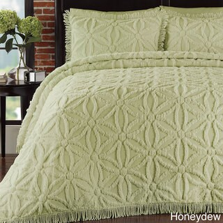 LaMont Home Arianna King Size Bedspread Set in White(As Is Item)