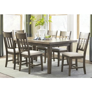 Granger Oak Finish MDF/Rubberwood/Veneer Dining Table