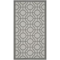 Safavieh Courtyard Modern Ogee Light Grey/ Anthracite Indoor/ Outdoor Rug (2'7 x 5')