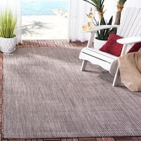 Safavieh Indoor/ Outdoor Courtyard Brown/ Beige Rug - 2' 7 x 5'