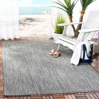 Safavieh Indoor/ Outdoor Courtyard Black/ Beige Rug (2' 7 x 5')