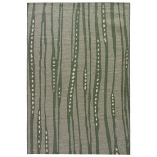 National Geographic Contemporary Abstract Pattern Green Polypropylene and Polyester Area Rug (7'6 x 9'6)