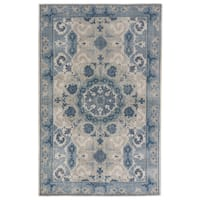 Hand-Knotted Oriental Gray/ Silver Area Rug (9' X 13') - 9' x 13'