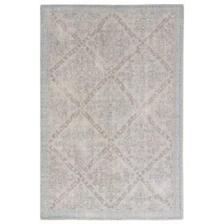 Classic Oriental Pattern Grey/ Neutral Wool Area Rug (8' x 11')