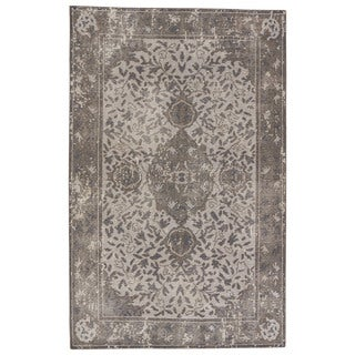 Classic Oriental Pattern Grey/ Brown Wool Area Rug (9' x 13')