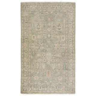 Classic Oriental Pattern Grey/ Neutral Wool Area Rug (9' x 12')