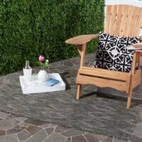 Safavieh Indoor/ Outdoor Courtyard Black/ Black Rug (2' 7 x 5')